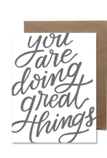 Doing Great Things Card