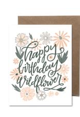 Happy Birthday Wildflower Card