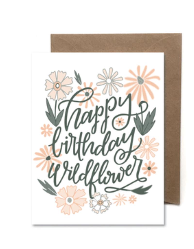 Faire Happy Birthday Wildflower Card