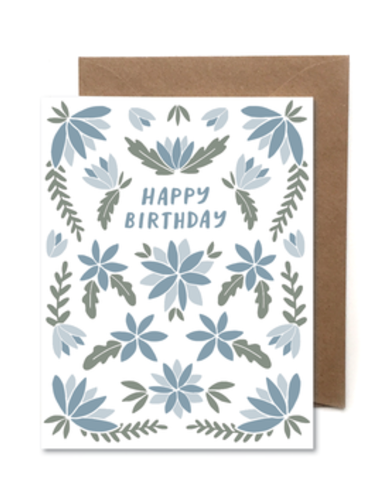 Faire Floral Happy Birthday Card