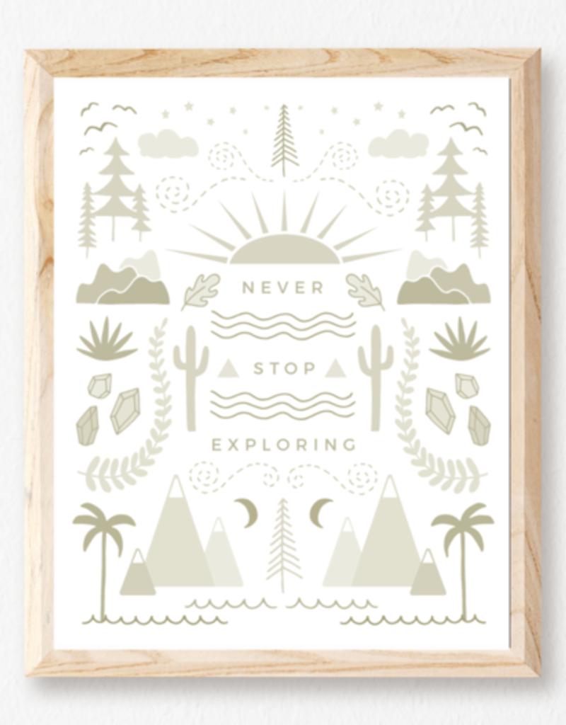 Never Stop Exploring Print