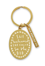 Faire She Believed She Could Keychain