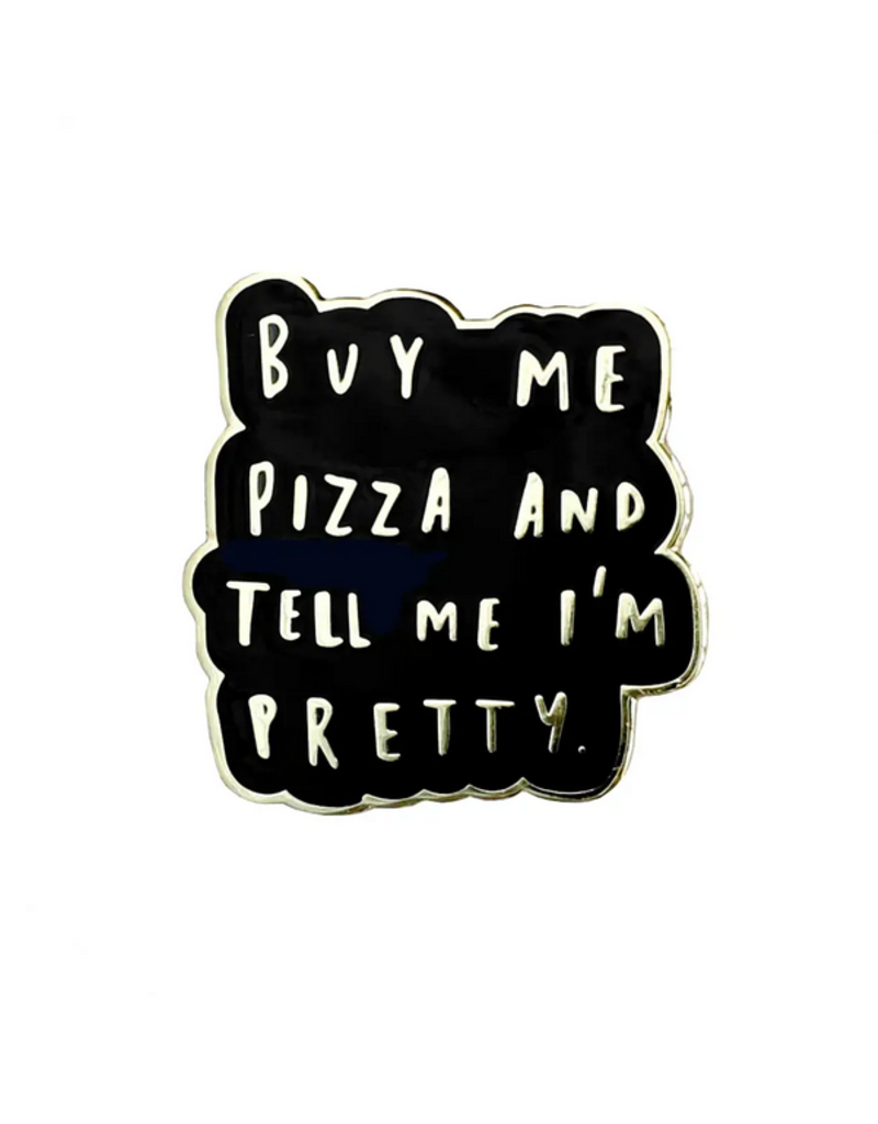 Buy Me Pizza Black Enamel Pin