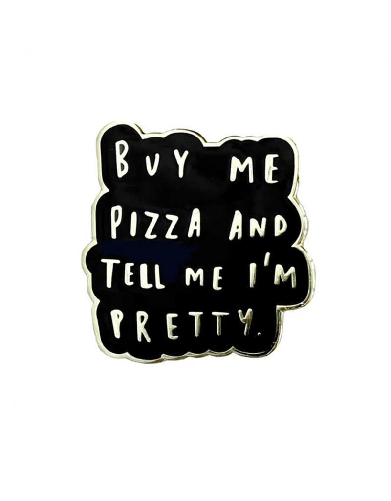 Faire Buy Me Pizza Black Enamel Pin