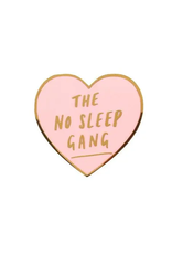 Faire No Sleep Heart Enamel Pin