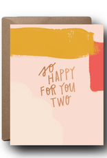 So Happy For You Two Wedding Greeting Card