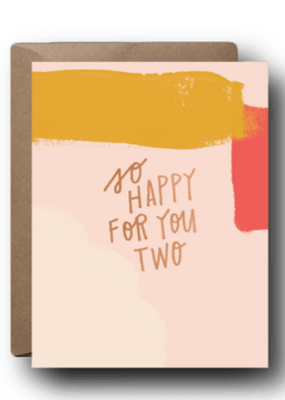 Faire So Happy For You Two Wedding Greeting Card