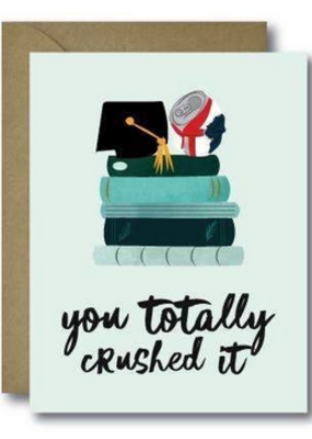 Faire Crushed It Grad Greeting Card