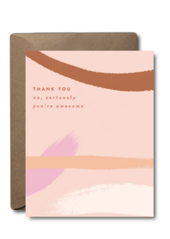You're Awesome Thank You Card