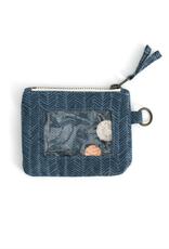 Navy Herringbone ID Wallet