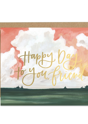 Faire Happy Day Landscape Greeting Card
