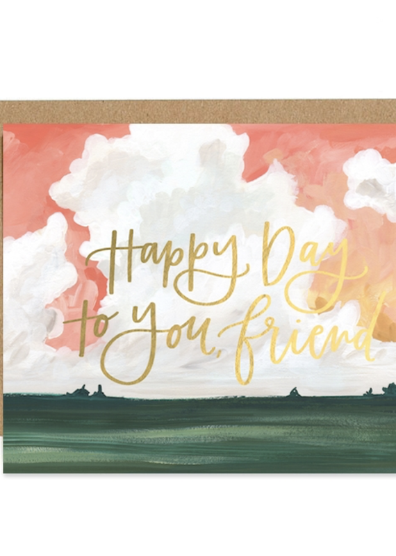Happy Day Landscape Greeting Card