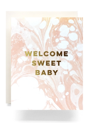 Faire Marble Baby Greeting Card