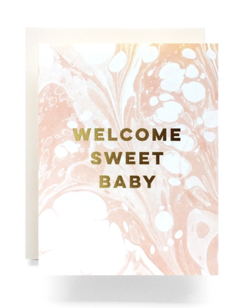 Marble Baby Greeting Card