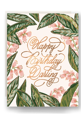 Faire Ginger Blossom Birthday Card