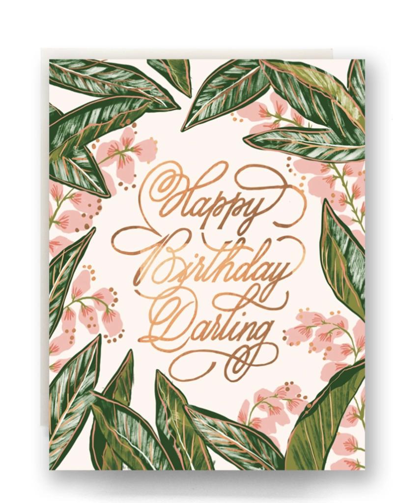 Ginger Blossom Birthday Card