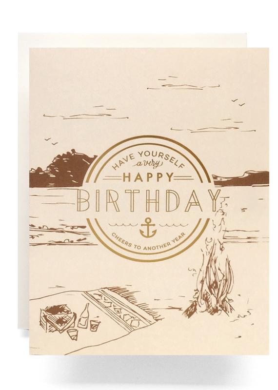 Crest Birthday Greeting Card