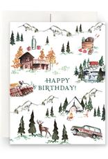 Alpine Lodge Birthday Greeting Card
