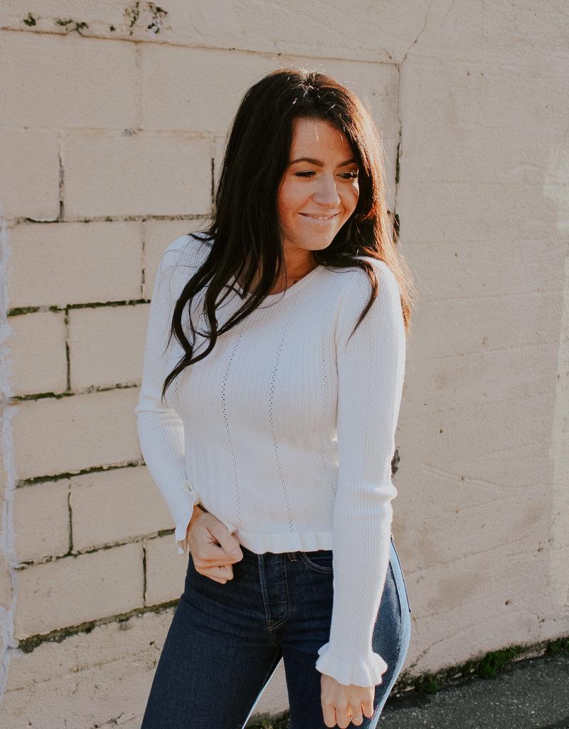 June Frill Sweater