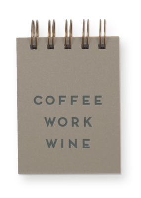 Faire Coffee Work Wine Jotter Notebook