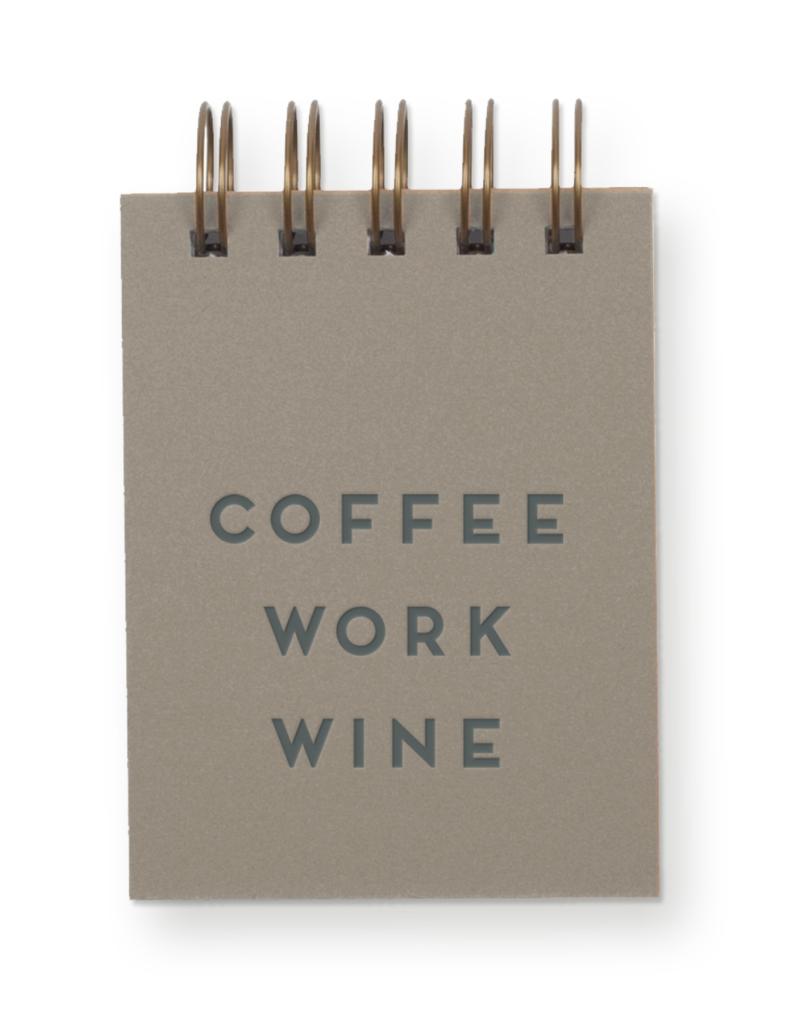 Coffee Work Wine Jotter Notebook