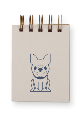 Faire Frenchie Mini Jotter Notebook