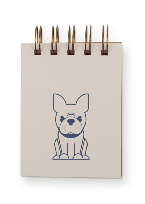 Frenchie Mini Jotter Notebook