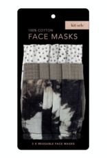 Kitsch Cotton Mask 3pc Set, Neutral