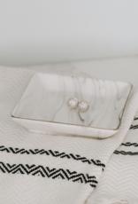 Jewelry Dish, Grey Marble