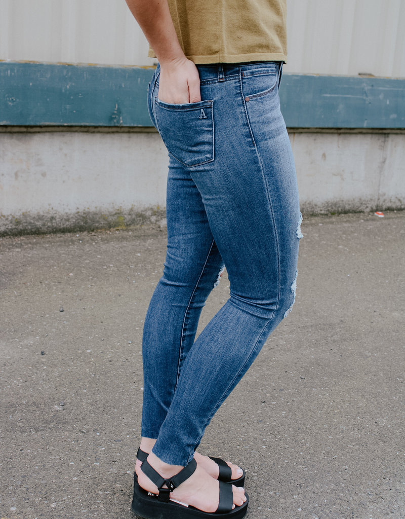 Article of Society Sarah Mid-Rise Ankle Skinny