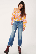 Free People Maggie Mid Rise Straight in Sequoia Blue