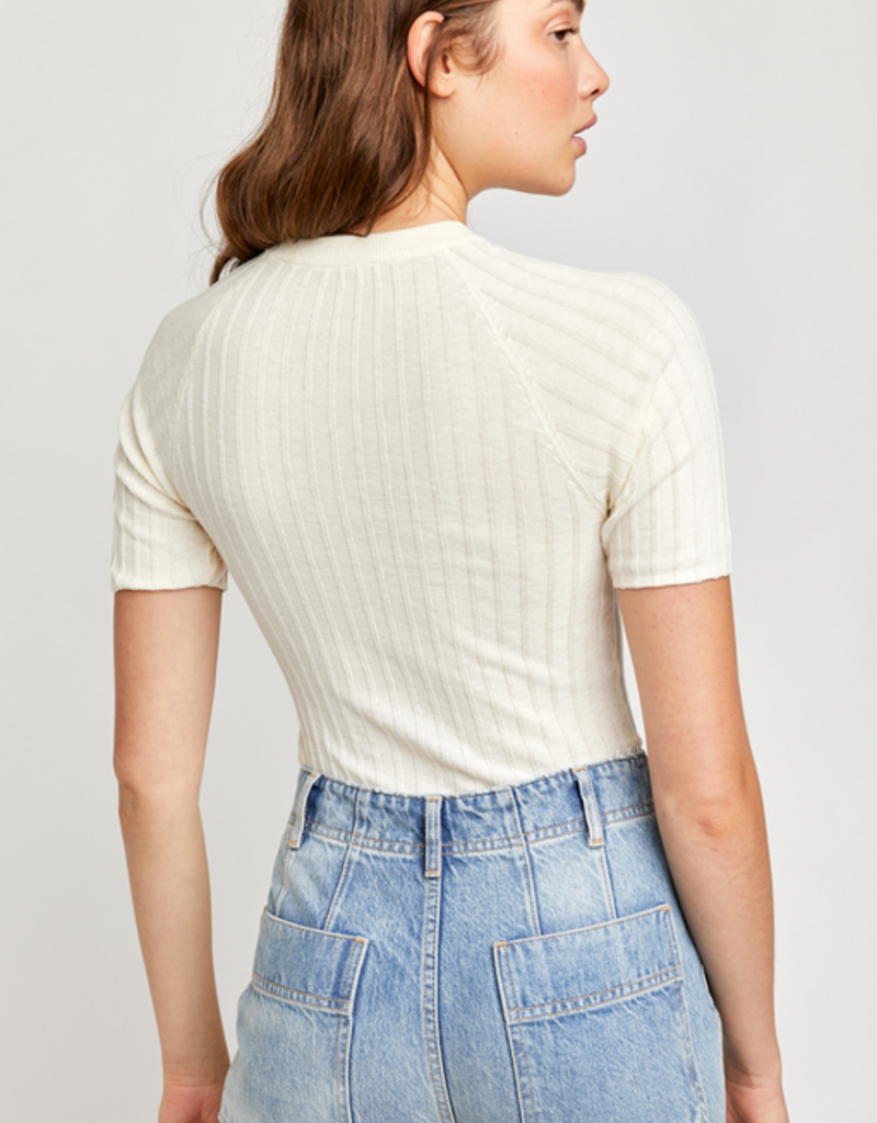 Free People Friday Morning Swit Tee in Cream
