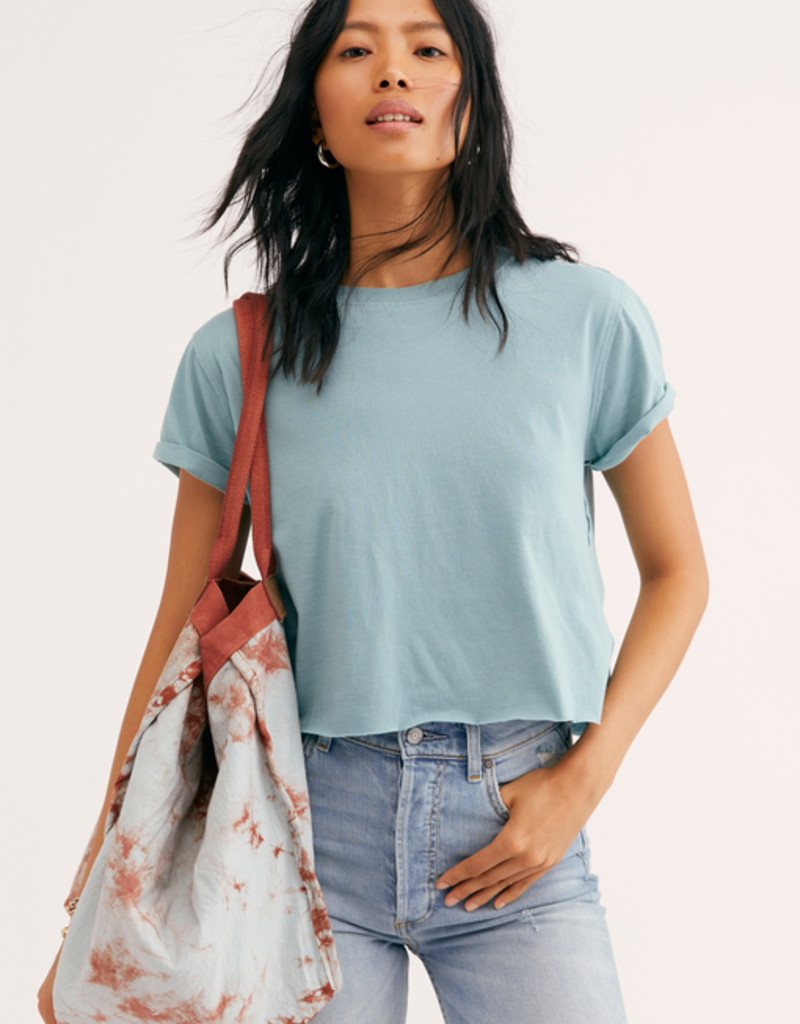 Free People The Perfect Tee in Shade Green