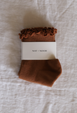 Ruffle Sock in Burnt Orange