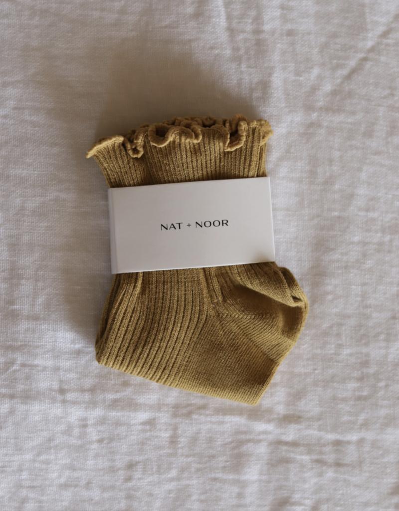 Ruffle Sock in Mustard