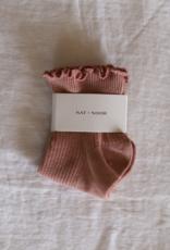 Ruffle Sock in Rose