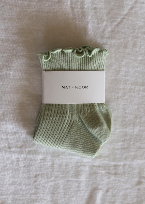 Ruffle Sock in Sage