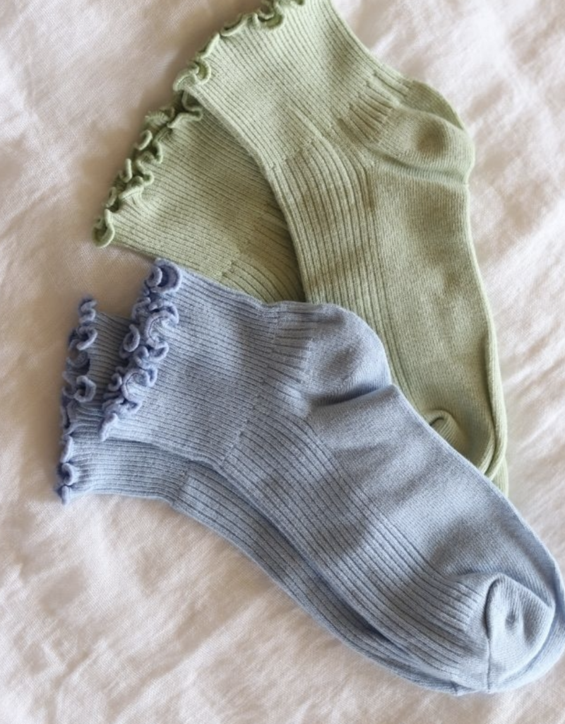 Ruffle Sock in Sage