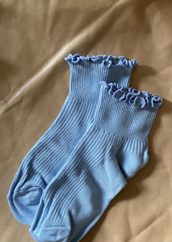 Ruffle Sock in Sky