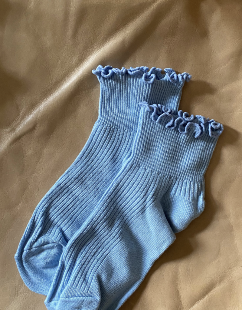 Ruffle Sock in Sky