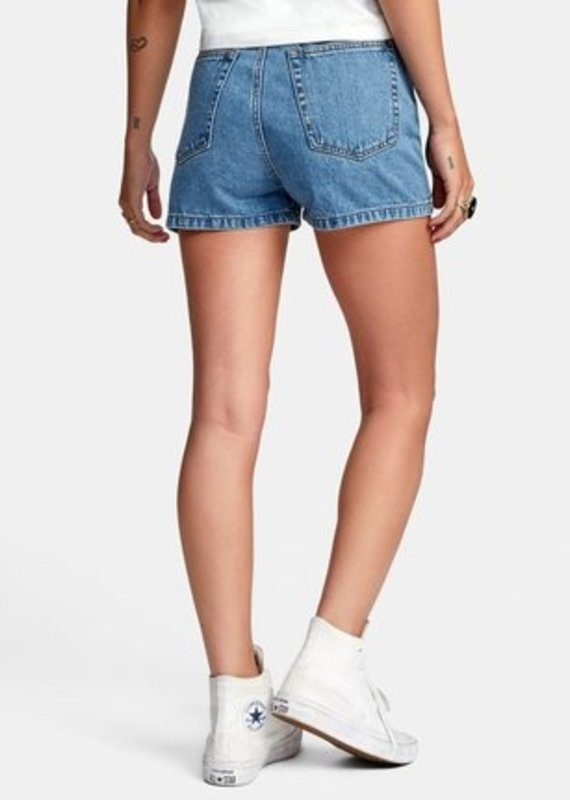 RVCA Azalea High-Rise Denim Shorts