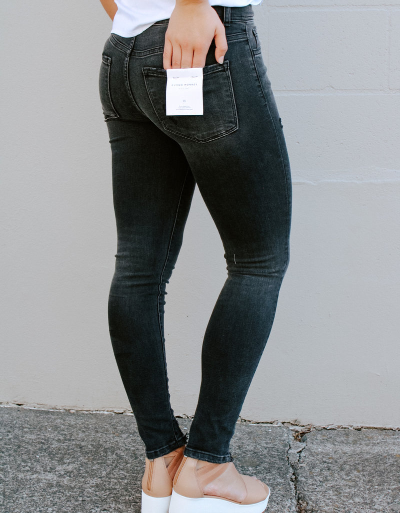 High-Rise Ankle Skinny