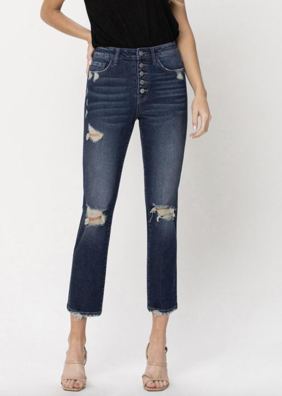 High-Rise Straight Leg Crop *Last size: 26