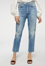 7 For All Mankind High-Waist Cropped Straight