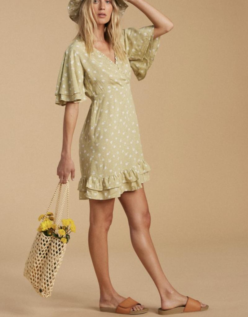 Billabong Salty Blonde In Bloom Dress