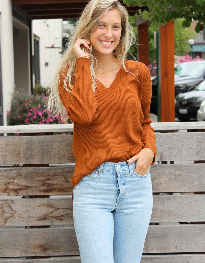 ZSupply Avalon Rib V-Neck Sweater