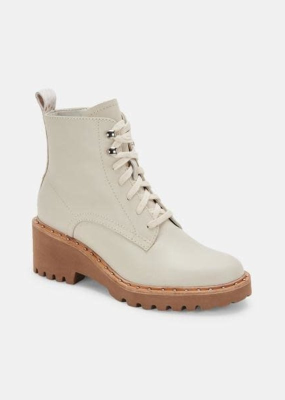 Dolce Vita Hinto Boots in Ivory Leather