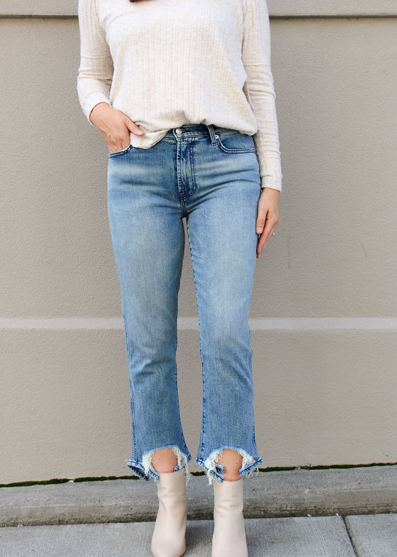 7 For All Mankind 7 For All Mankind: High-Waist Cropped Straight