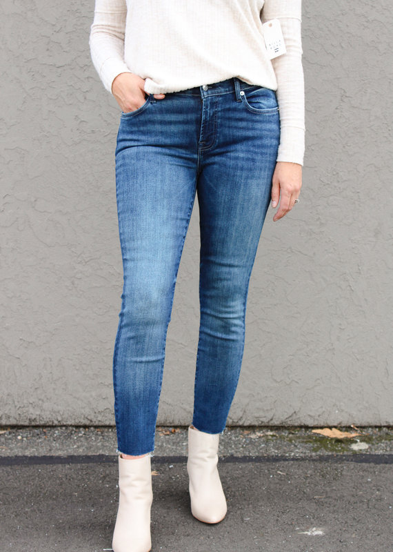 7 For All Mankind 7 For All Mankind: Ankle Skinny with Cut Hem