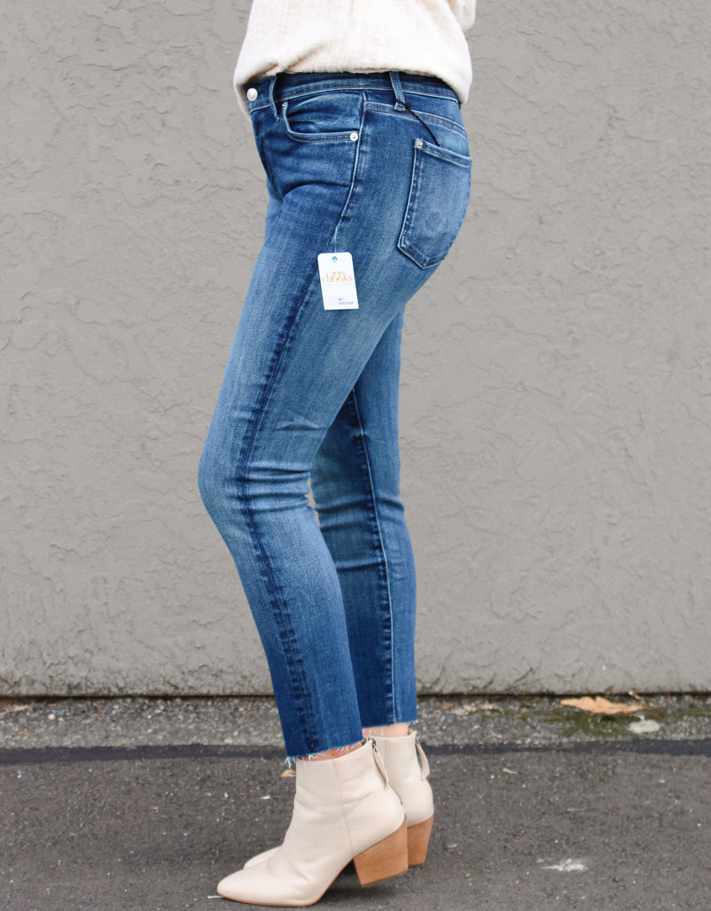 7 For All Mankind Ankle Skinny with Cut Hem